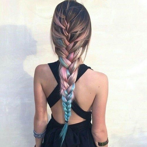aesthetic, braids, and color image