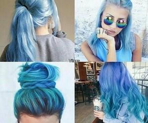 alternative, hair, and blue hair image