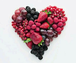 fruit, heart, and berries image