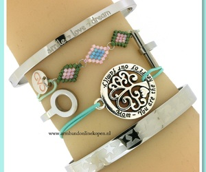 lucky stars, mother, and love bracelet image