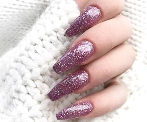 nails, glitter, and fashion image
