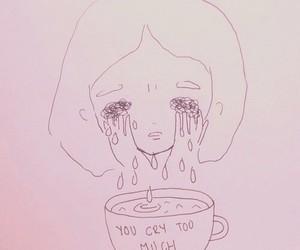 sad, cry, and drawing image