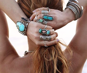 rings, summer, and turquoise image