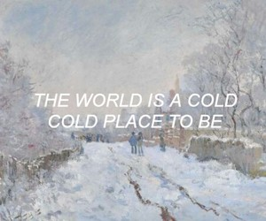 art, cold, and peace image