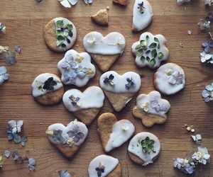 comida, corazones, and dulce image