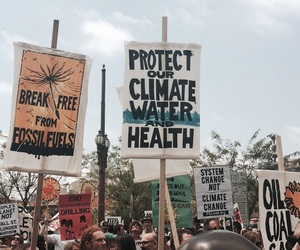 protest, climate, and climate change image