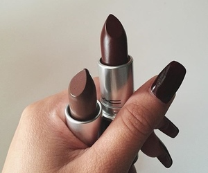 nails, makeup, and lipstick image