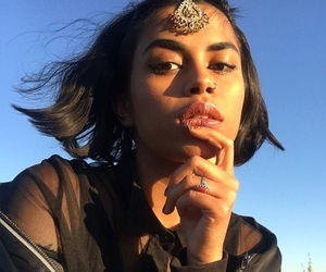 brown hair, muslim, and pretty girl image