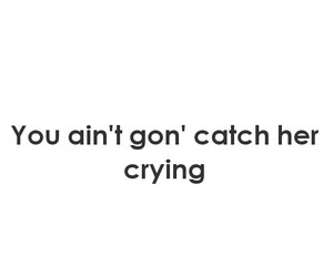 crying, her, and Lyrics image