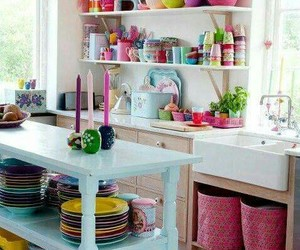 kitchen, home, and colors image