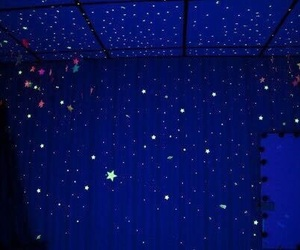 blue, stars, and aesthetic image
