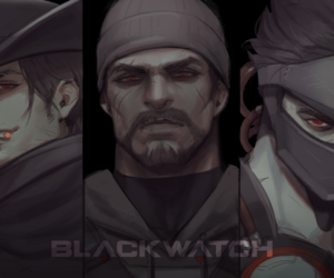 reaper, gabriel reyes, and genji image
