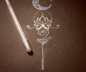 art, draw, and lotus image