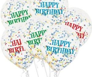 Balloon Confetti And Happy Image