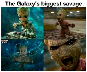 guardians of the galaxy, groot, and baby groot image