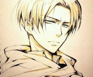 attack on titan, drawing, and levi heichou image