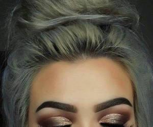 hair, makeup, and eyeshadow image