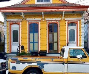 yellow, yellow house, and new oeleans image