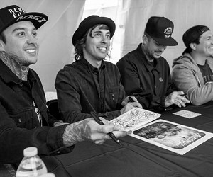 mike fuentes, pierce the veil, and tony perry image