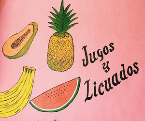 banana, pink, and latinx image