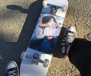 skate, converse, and grunge image