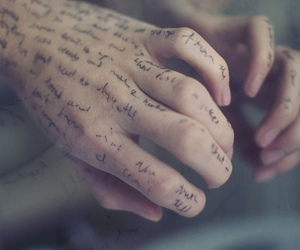 hands, hand, and text image