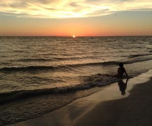 beach, blue, and peace image