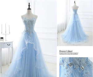 blue dress, dress, and evening dress image