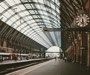 travel, vintage, and Kings Cross image
