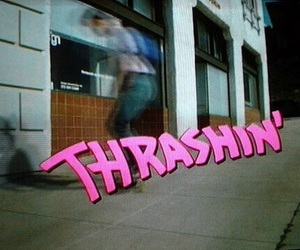 pink, thrashin, and skate image