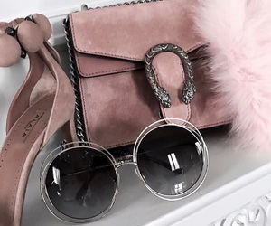 fashion, sunglasses, and pink image
