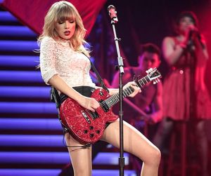 hot legs, Taylor Swift, and on her red concert tour image