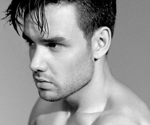 b&w, cute, and liam image