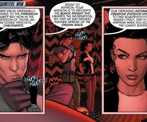 dick grayson, helena bertinelli, and dc comics image