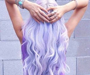 colour, girl, and hairstyle image