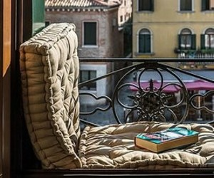 balcony, book, and italy image