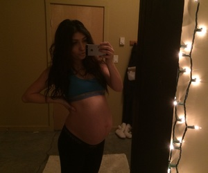 baby boy, mommy, and pregnant image