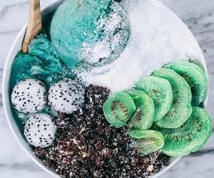 food, fruit, and kiwi image