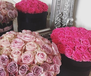 pink, flowers, and luxury image