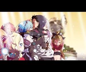anime, hug, and cute image