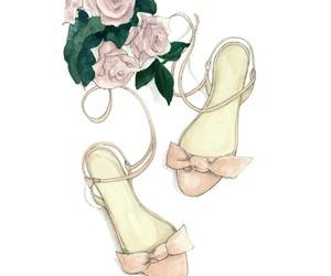blush, fashion illustration, and flats image