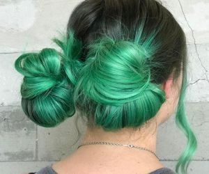 pastel, greenhair, and rainbowhair image