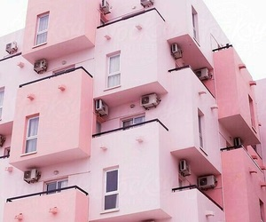apartments, pink, and cool image