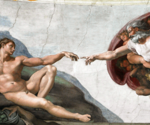 adam, michelangelo, and art image