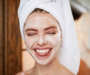 girl, happy, and scrub image