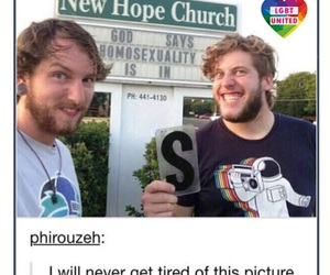 church, funny, and homosexuality image