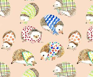 hedgehog, animal, and pattern image