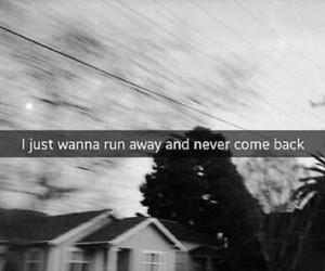 run, sad, and never image