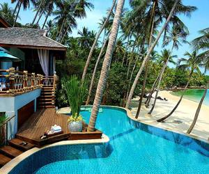 beach, pool, and luxury image