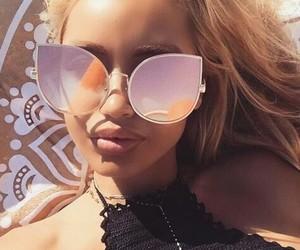 beauty, girl, and sunglasses image